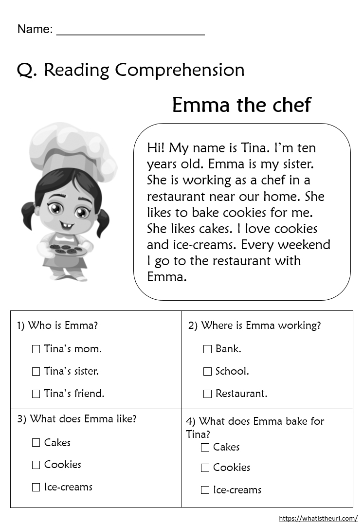 - Reading Comprehension Worksheets For Grade 2 - Your Home Teacher