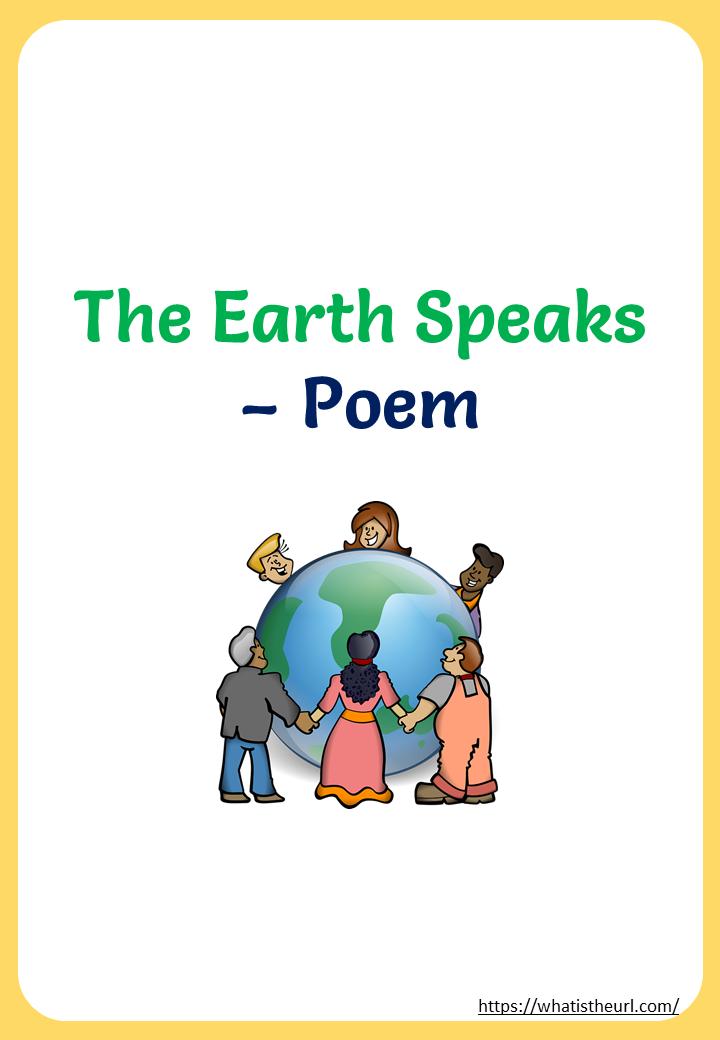 Printable The Earth Speaks - Poem - Your Home Teacher