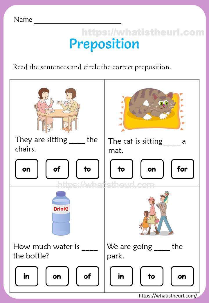 Preposition Worksheets For 1st Grade - Your Home Teacher