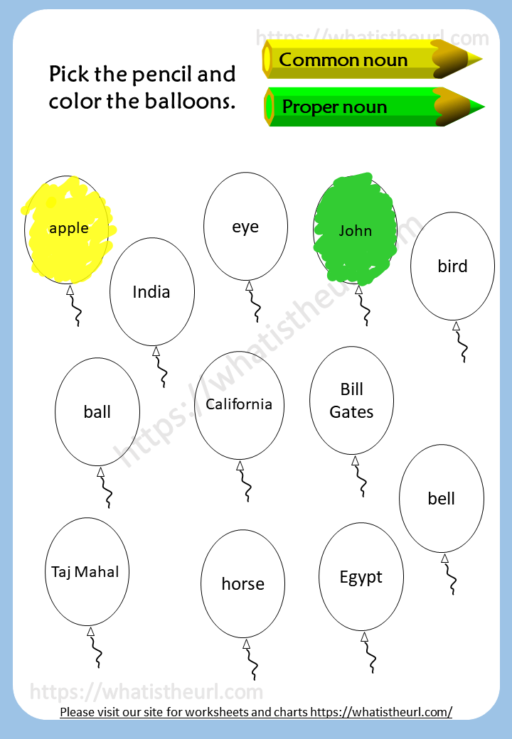 Common Nouns And Proper Nouns Worksheets 2 Your Home Teacher