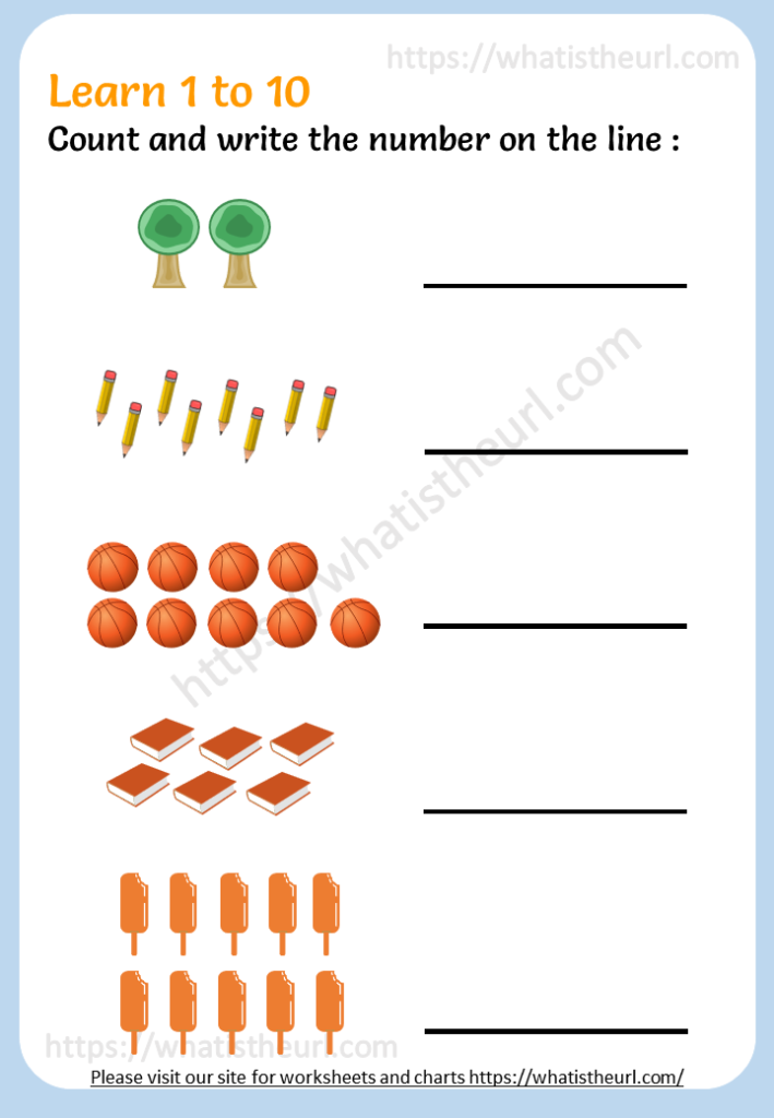 Count And Write Numbers - Grade 1 Maths - Your Home Teacher