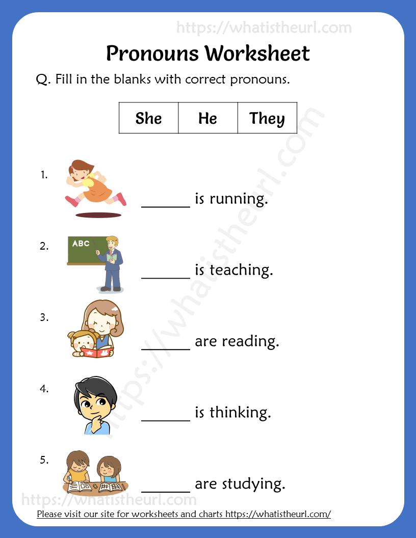 Pronouns Worksheets For Grade 2 Your Home Teacher