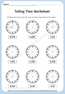 Telling Time Worksheets for 3rd Grade - Your Home Teacher