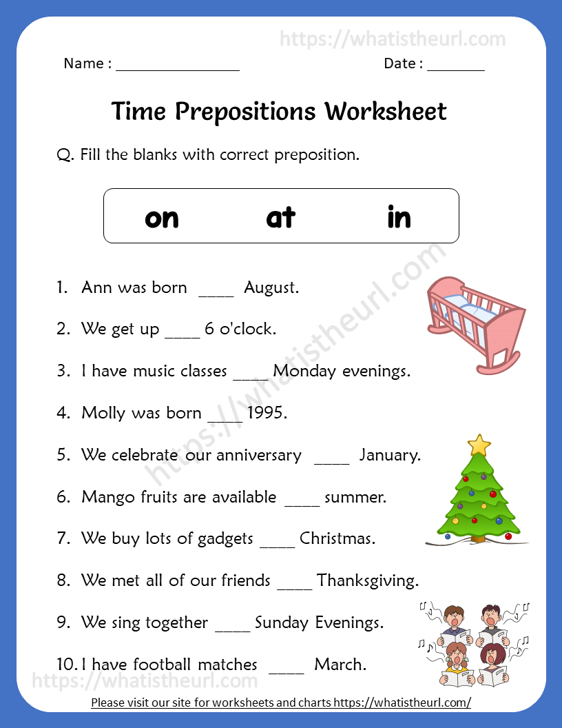 Time Prepositions Worksheets For 5th Grade Your Home Teacher
