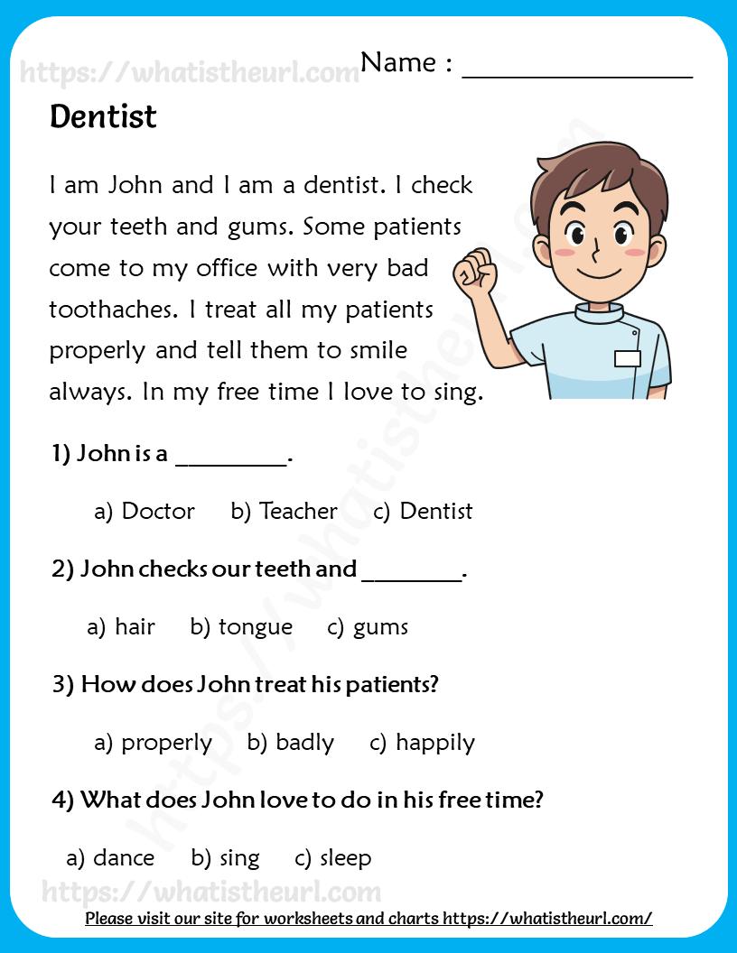 - Dentist - Reading Comprehension For Grade 2 - Your Home Teacher