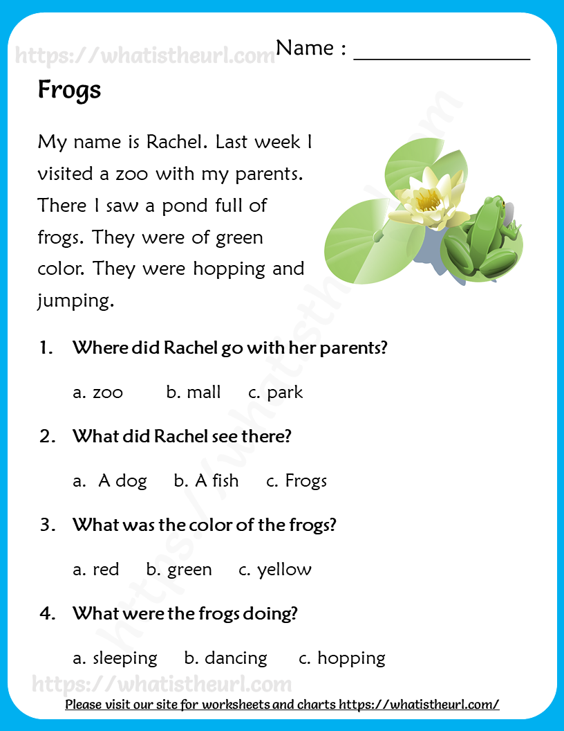 Reading Comprehension for Grade 3 - Your Home Teacher