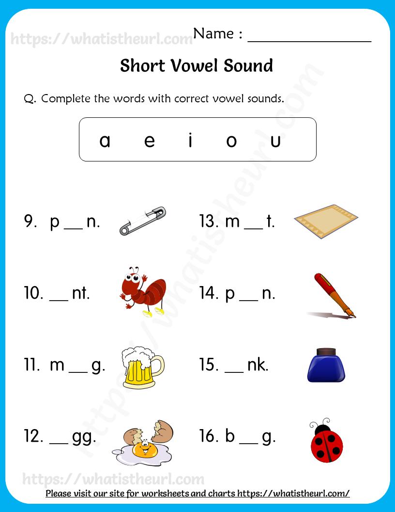 short vowel sounds worksheets for grade 1 3   Your Home ...